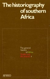The Historiography of Southern Africa - unesdoc - Unesco