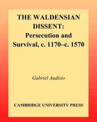 The Waldensian Dissent : Persecution and ... - Shattering Denial
