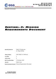 Sentinel-3 Mission Requirements Document - Esa