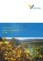 Flyer Gesund und Aktiv 2012 - Klinik Gais