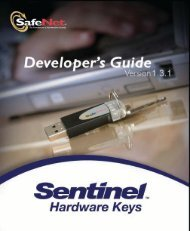 Sentinel Hardware Keys Developer's Guide - Customer Connection ...