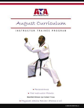 ITM August Perseverance - K.indd - Round Rock ATA Martial Arts ...