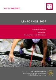 LEHRGÄNGE 2009 - Swiss Infosec AG