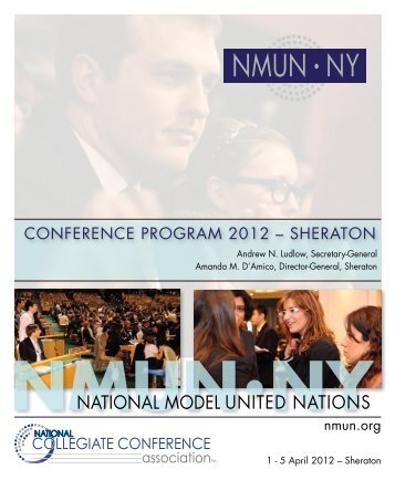 2012 NMUN•NY Conference Program - National Model United Nations