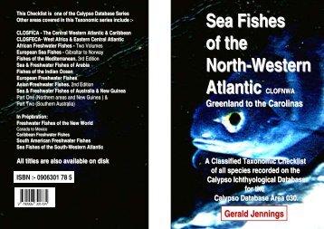 Sea Fishes of the North-Western Atlantic CLOFNWA - Calypso