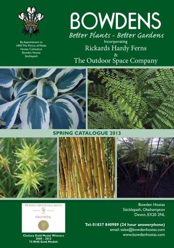 Spring Catalogue 2013 - Bowden Hostas