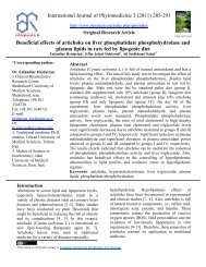 Beneficial effects of artichoke on Liver phosphatidate ...