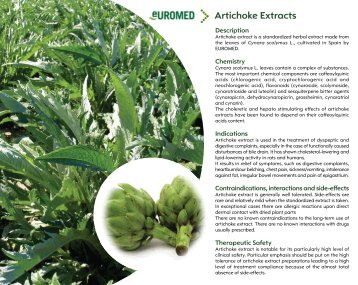Artichoke Extracts - Euromed
