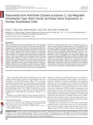 Flavonoids from Artichoke (Cynara scolymus L.) - Journal of ...
