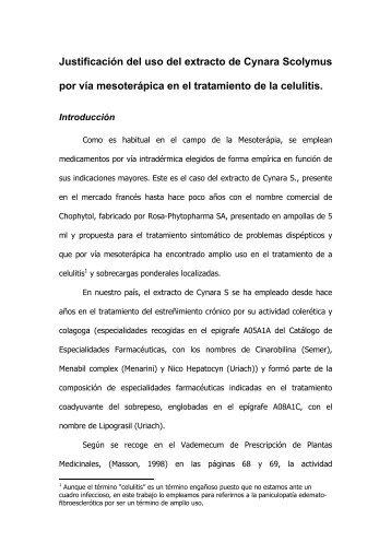 Utilización del extracto de Cynara Scolymus en el - Dr. Ignacio Ordiz