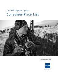 Carl Zeiss Sports Optics Consumer price list