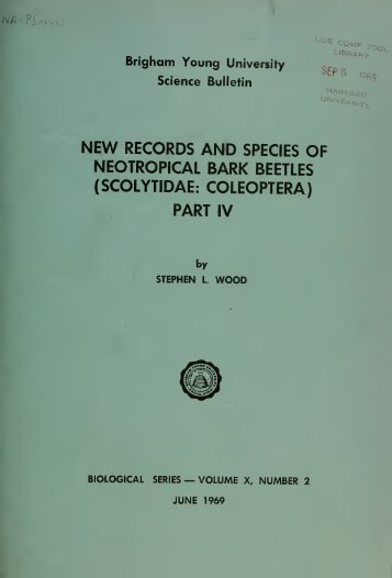 New records and species of neotropical bark beetles (Scolytidae ...
