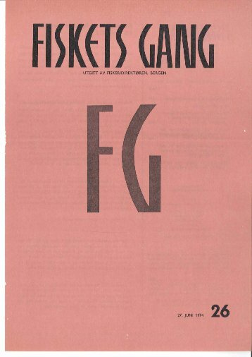 Fiskets Gang. Nr 26. 1974