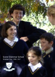 Scone Grammar School Strategic Plan 2008 - 2017