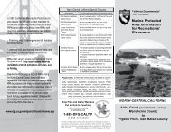 Lower resolution version - California Department of Fish and Game