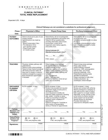 care plan total knee replacement Start studying chapter 20 the nurse is caring for a client who had right total knee replacement the nurse is working in a primary care clinic and.