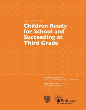 Children Ready for School and Succeeding at Third Grade - Strategies