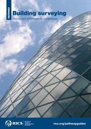 Building surveying pathway guide - RICS