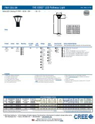 LED PATHWAY SPECIFICATION SHEET - Cree, Inc.