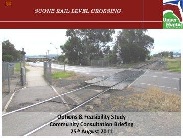 Scone rail level crossing - RTA