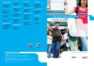 The GAC Pathway Universities - ACT International
