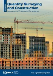 Pathway Guide: Quantity Surveying and Construction - RICS