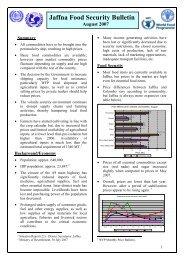 Jaffna Food Security Bulletin
