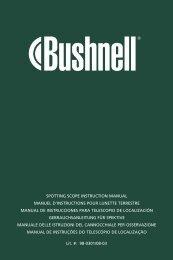 Manual de instrucciones - Bushnell