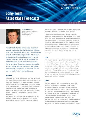 Long-Term Asset Class Forecasts as of 9/30/12 - State Street Global ...