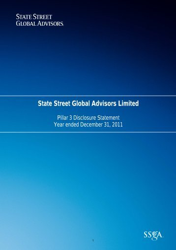 State Street Global Advisors Limited Pillar 3 Disclosure Statement
