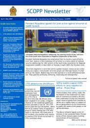 Newsletter March-April (2) - Peace in Sri Lanka