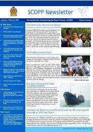 SCOPP Newsletter - Peace in Sri Lanka