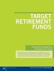 SSgA Target Retirement Funds brochure - State Street Global Advisors