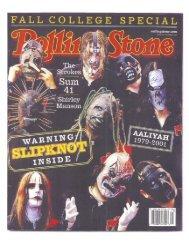 Slipknot - Anthony Bozza