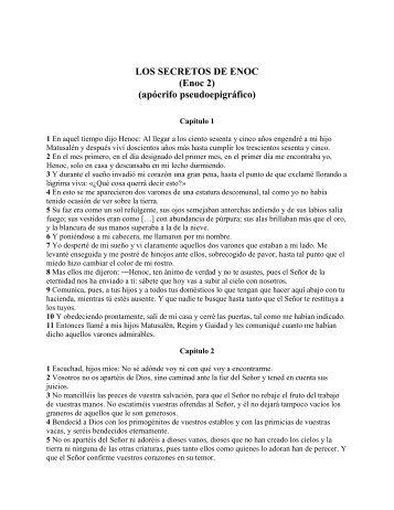"""LOS SECRETOS DE ENOC - CONGREGACION """"EL YO SOY"""""""