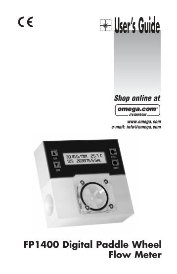 Flow Meters paddle wheel - Omega Engineering