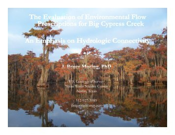 The Evaluation of Environmental Flow Prescriptions for Big Cypress ...