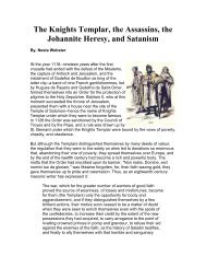 The Knights Templar, the Assassins, the Johannite Heresy, and ...