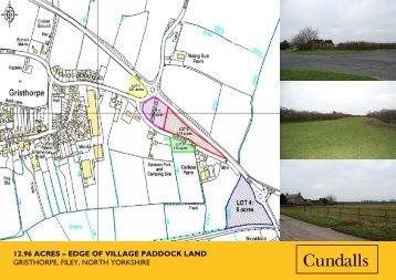 12.96 acres edge of village paddock land gristhorpe - Cundalls