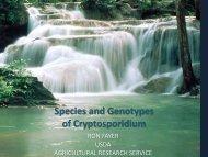 Species and Genotypes of Cryptosporidium – Presenter Dr - Water