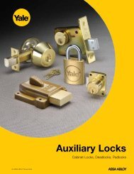 Auxiliary Locks - ASSA ABLOY Door Security Solutions :: Extranet