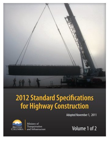 2012 Standard Specifications for Highway Construction