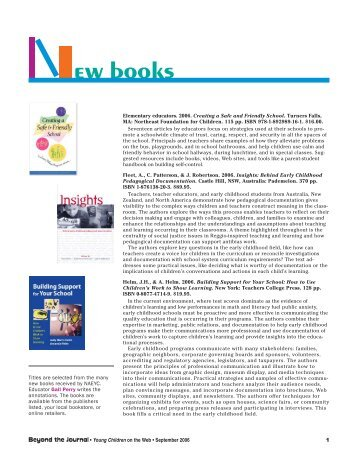 New Books - National Association for the Education of Young Children