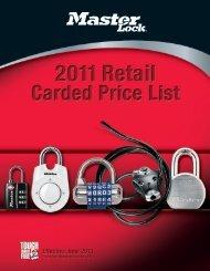 Retail Price List 7000-0577 - Master Lock