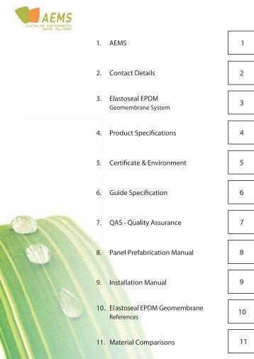 Elastoseal EPDM Geomembrane System - Australian Environmental ...