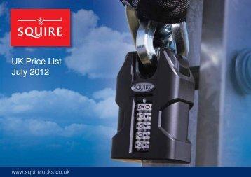 UK Price List July 2012 - Squire Locks