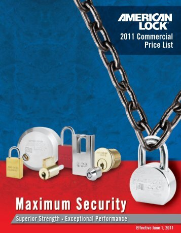 American Lock Product Catalog - Masterlocks.com