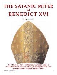 The satanic miter of BXVI en - Chiesa viva
