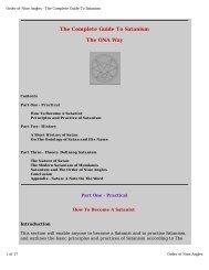 The Order of Nine Angles / Order of The Nine Angles - o 9 a