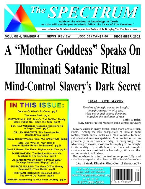 """A """"Mother Goddess†Speaks On Illuminati Satanic"""